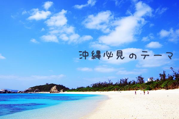 沖縄必見のテーマ