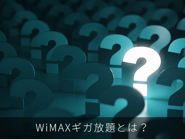 WiMAXギガ放題とは?