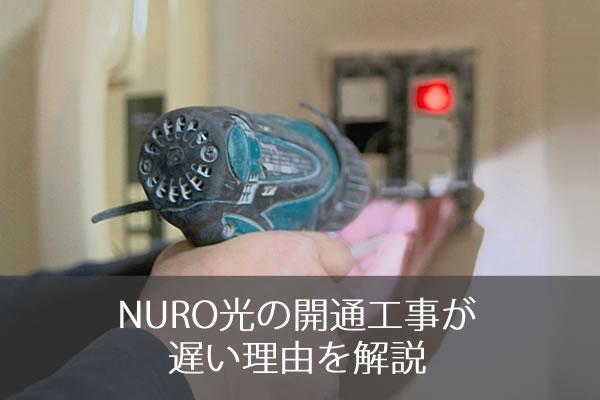 NURO光の開通工事が遅い理由を解説